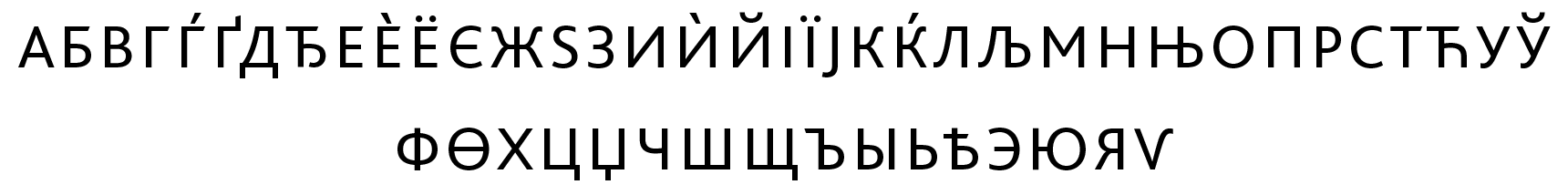 <p>Cyrillic small capitals</p> glyphs