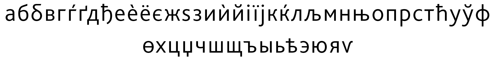 <p>Cyrillic lowercase</p> glyphs