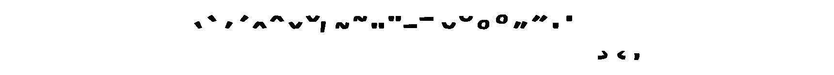 <p>Accents</p> glyphs