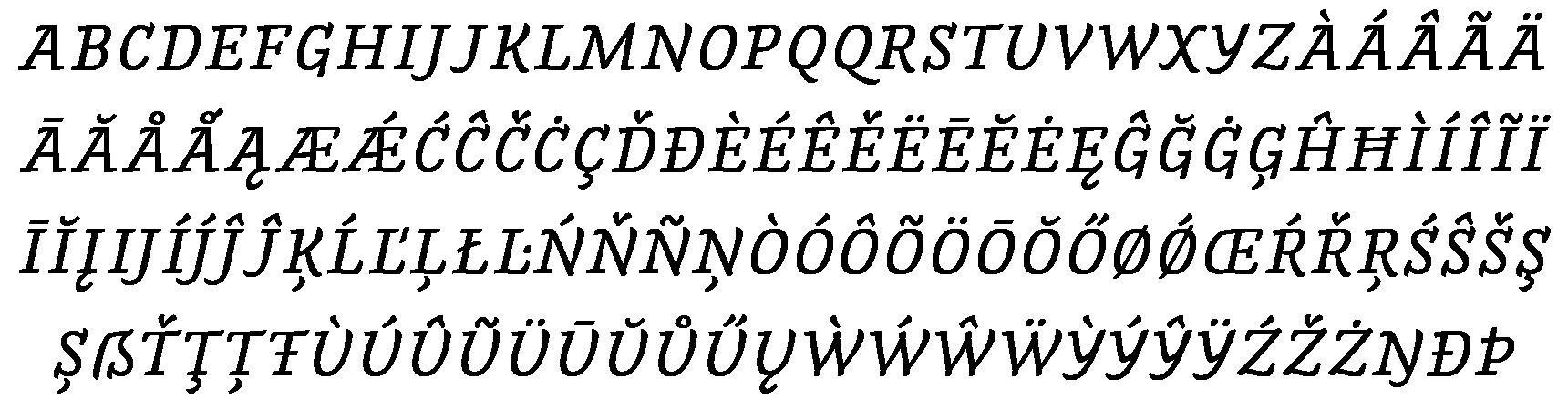 <p>Small capitals</p> glyphs