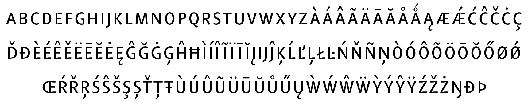 <p>Small capitals</p> glyphs