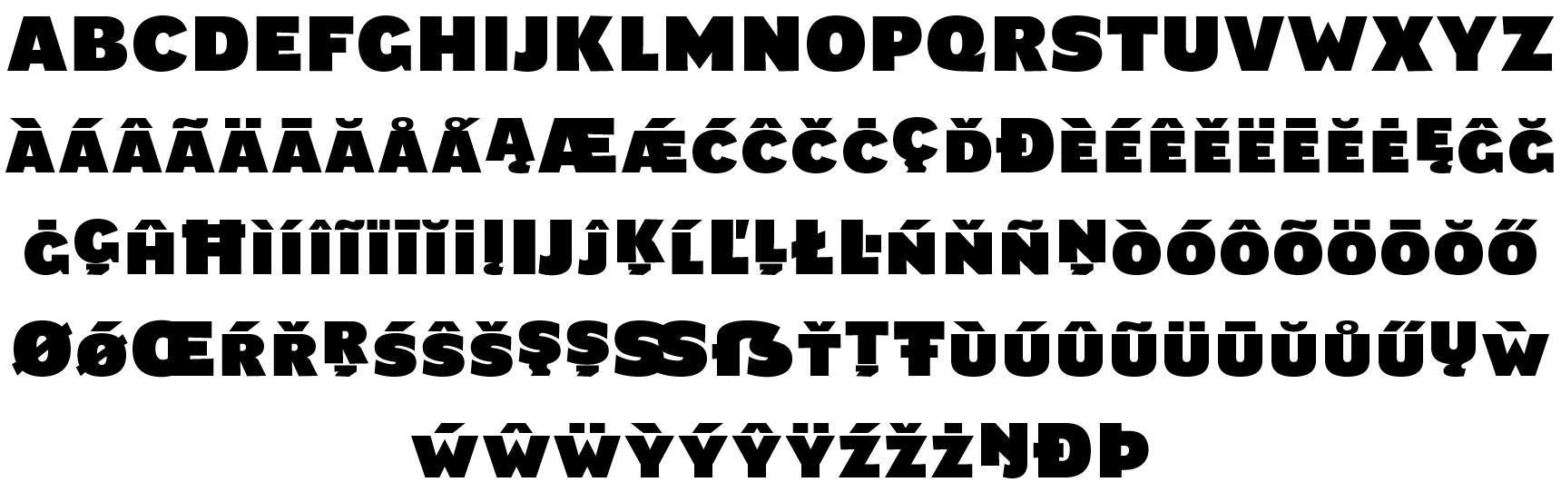 <p><em>Lettershapes change from font to font</em><br /><br />Main forms</p> glyphs