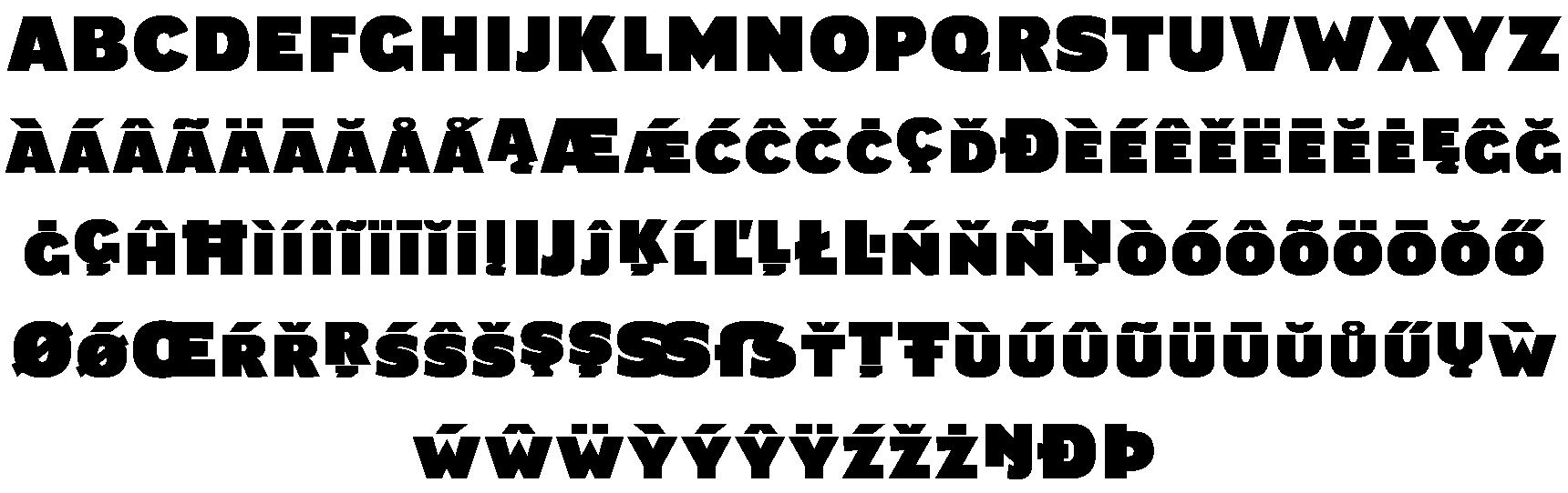 <p><em>Lettershapes change from font to font</em><br /><br />Main forms</p> glyphs