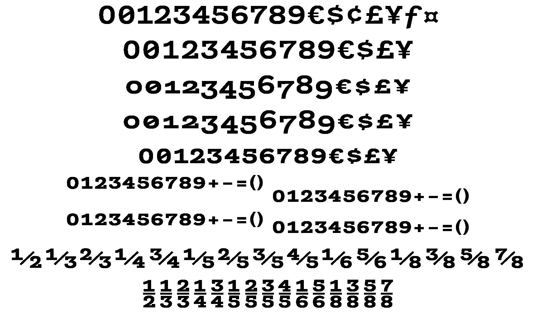 <p>Figures &amp; symbols</p> glyphs